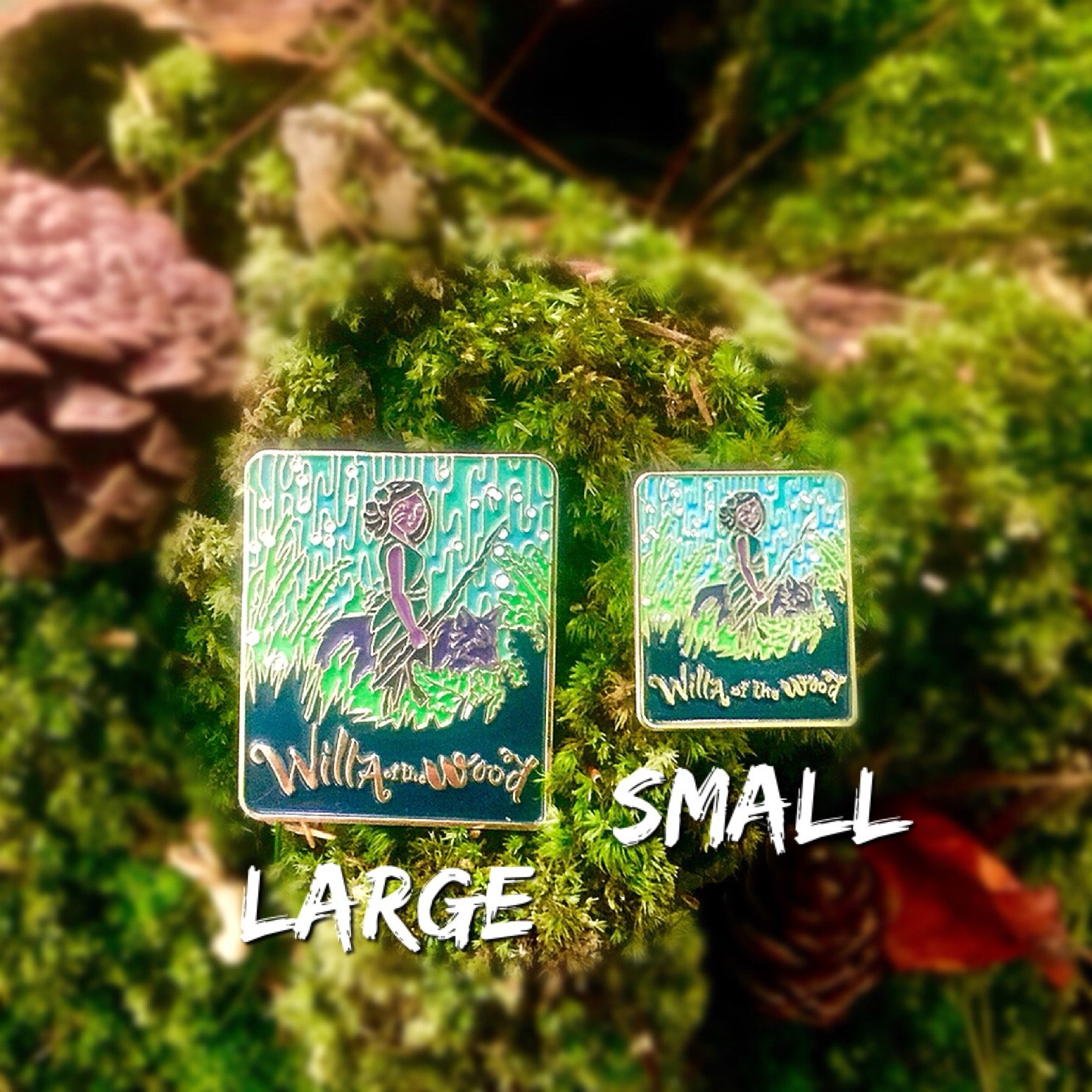 Gold Enamel Pin - Willa of the Wood - Small