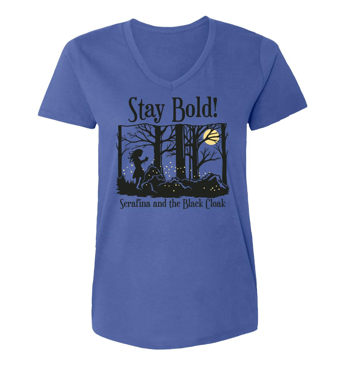 Serafina-in-Forest-shirt-womenV-floblue