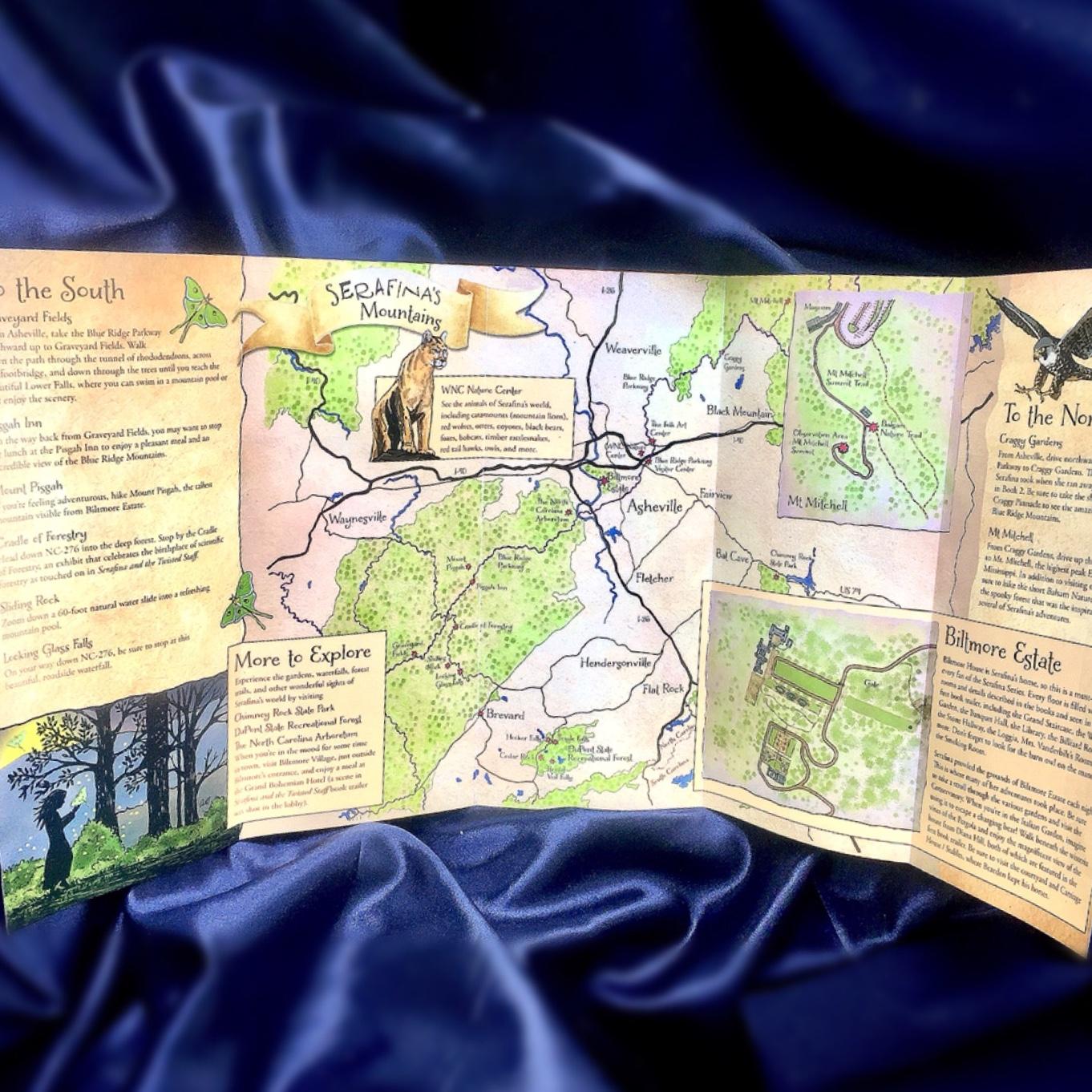 Adventure Map of Serafina & Willa's Mountains