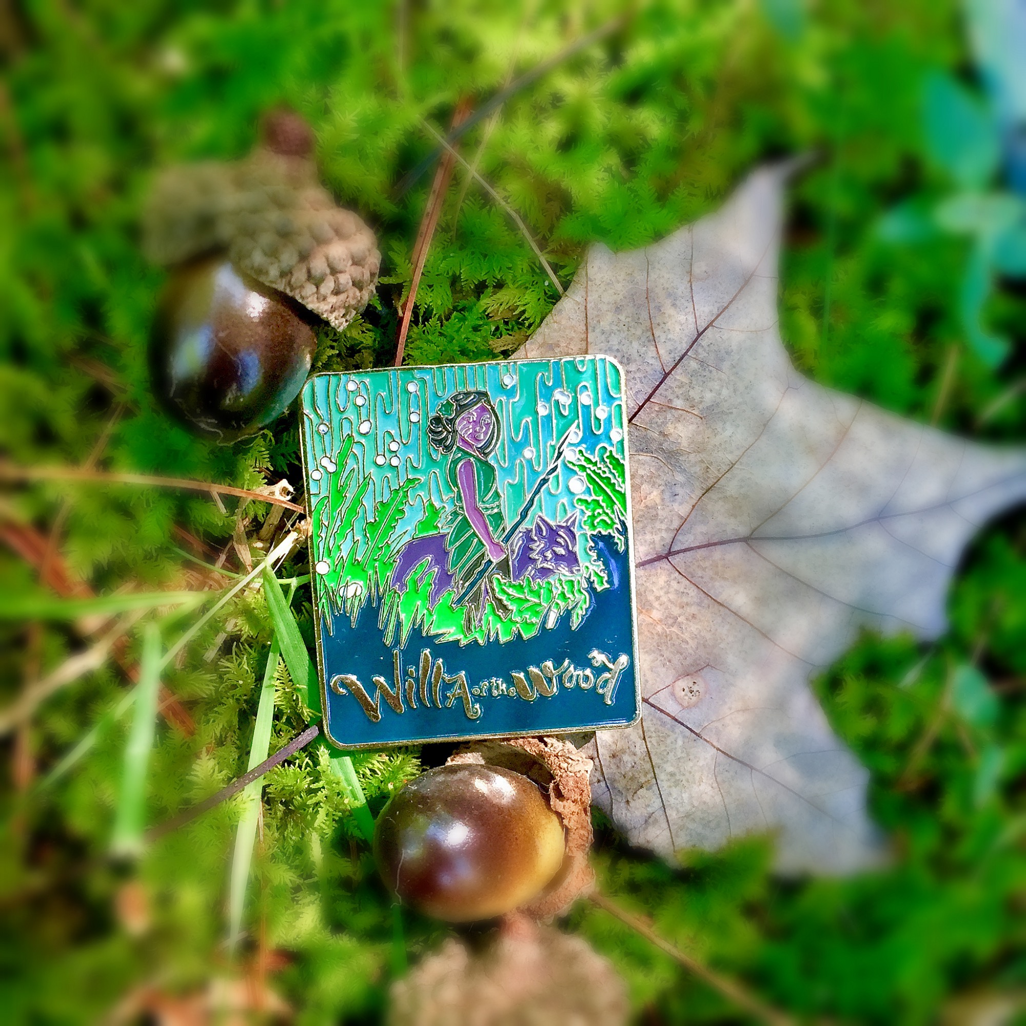 Gold Enamel Pin - Willa of the Wood (Large)