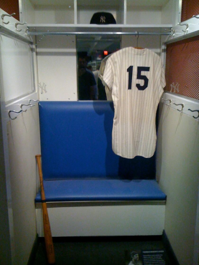 Thurman Munsons Locker  Yankee Museum  Robert Accettura