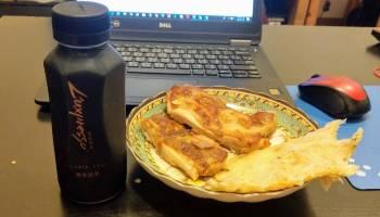 L'uxpresso 精品咖啡配雞腿和蔥油餅