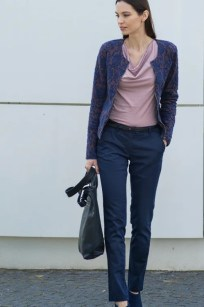 Chino Hose in marine von Alma & Lovis bei roberta organic fashion