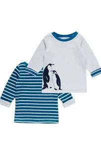 Wende Swaetshirt in Türkis und mit Pinguinen