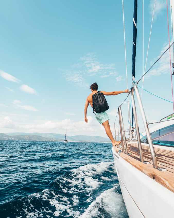 open water, sailing, boat