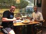 Having dinner with Mr. Yan