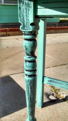 Distressed Turquoise Finish