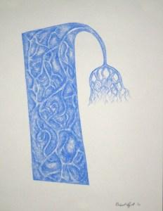 """Robert Egert, Compound, Conté on paper, 11"""" x 17"""", 2009"""