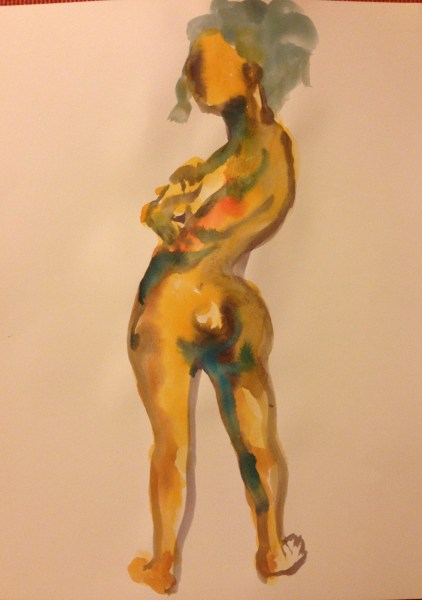 """Gouache painting on paper, 18"""" x 24"""", painted by Robert Egert at in Jersey City, NJ. . Currently available through the artist"""