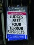 Judges free four terroist suspects