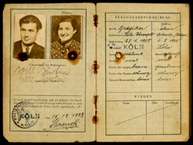 Will Burtin and Hilda Burtin, in 1933 German passport photo