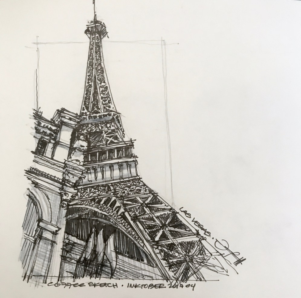 LasVegas-Paris 6 CoffeeSketch#14 Inktober