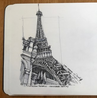 LasVegas-Paris 8 CoffeeSketch#14 Inktober