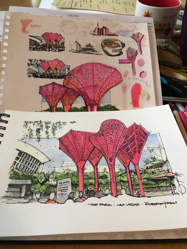 The Plaza 7 #CofeeSketch16 #Inktober7