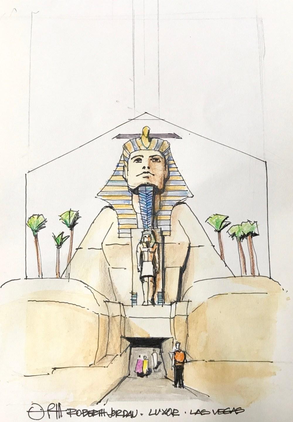 Luxor Door Sketch