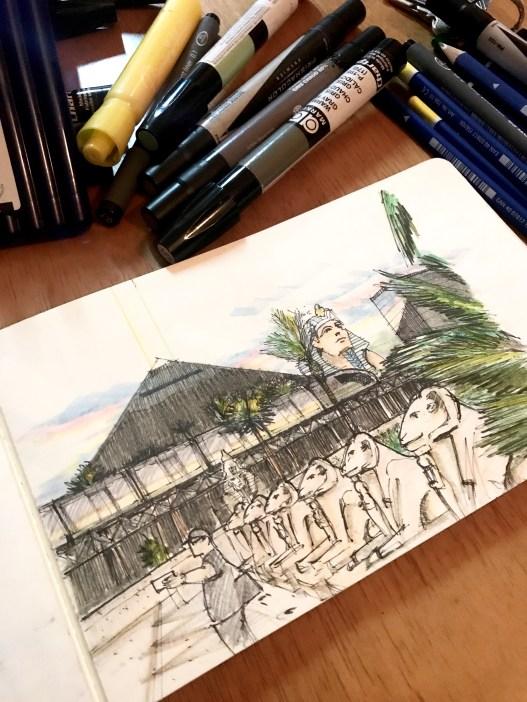 Luxor Train Sketch 1