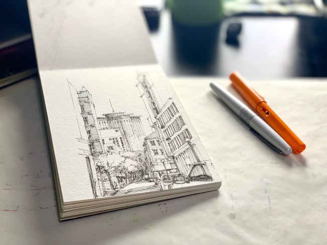 Sketch book - New Orleans Downtown Sketch