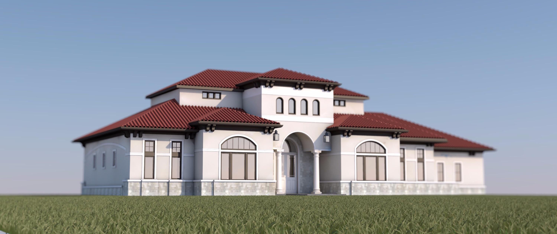 Mediterranean Residential Design 3D render - Mediterranean Style - House Design