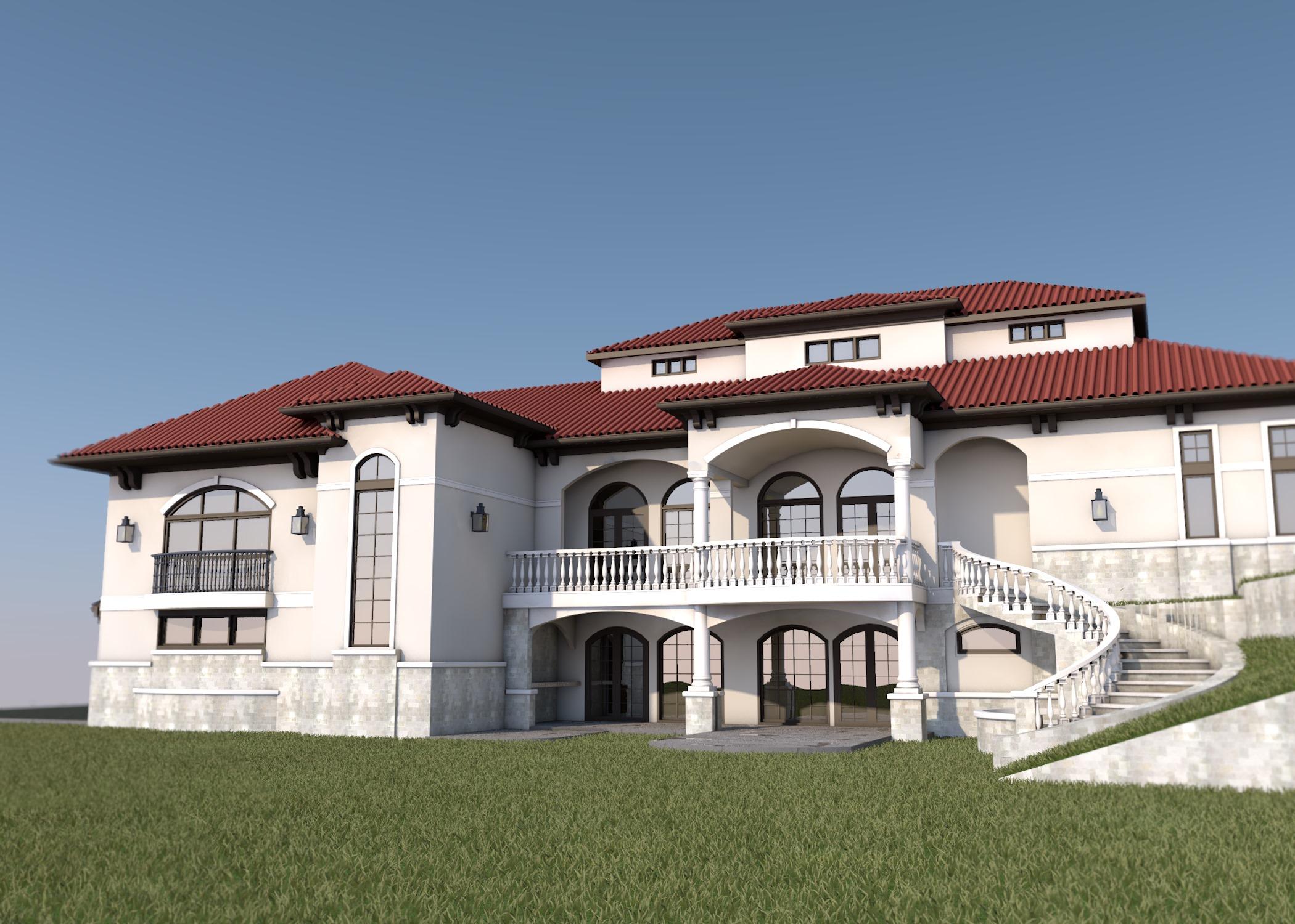 Mediterranean - House Design - Mediterranean Design 3D render