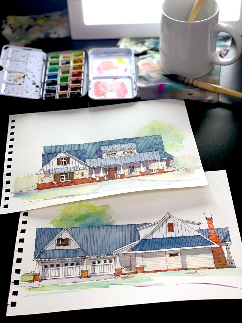 Farmhouse Sketch Art