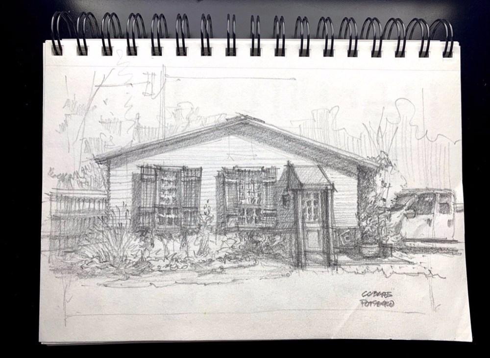 Pottsboro UrbanSketch Sketchbook