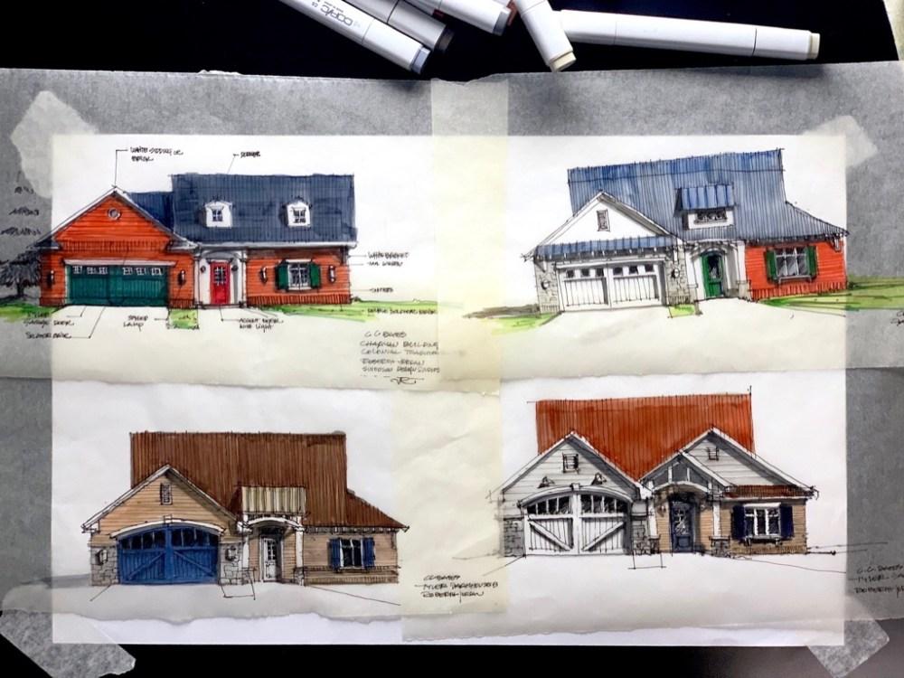 Four Farmhouse Sketches