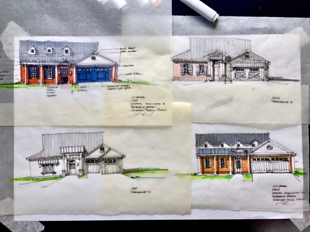 House in Denison​ Sketch Set