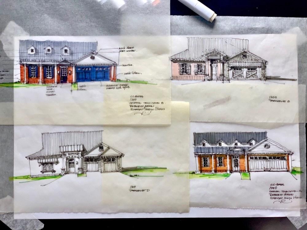 House in Denison Sketch Set