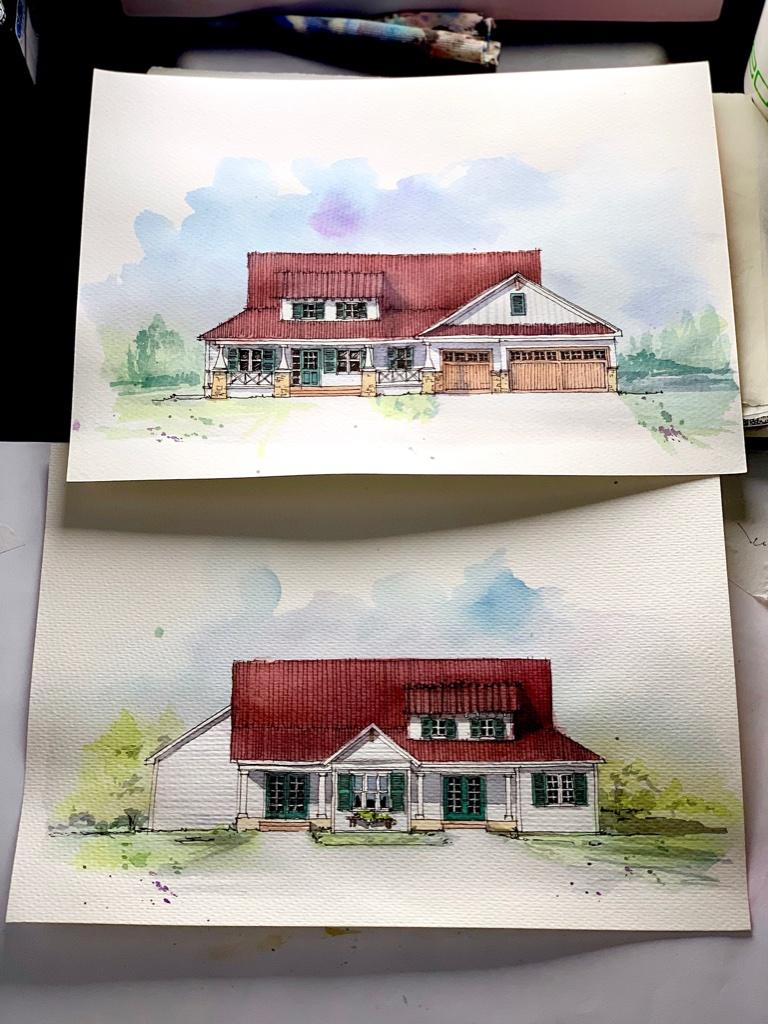 Craftsman House Sketch Finished