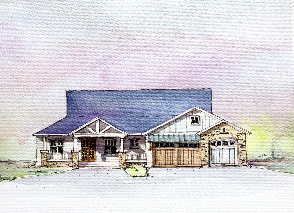 Farmhouse - Sketch Art