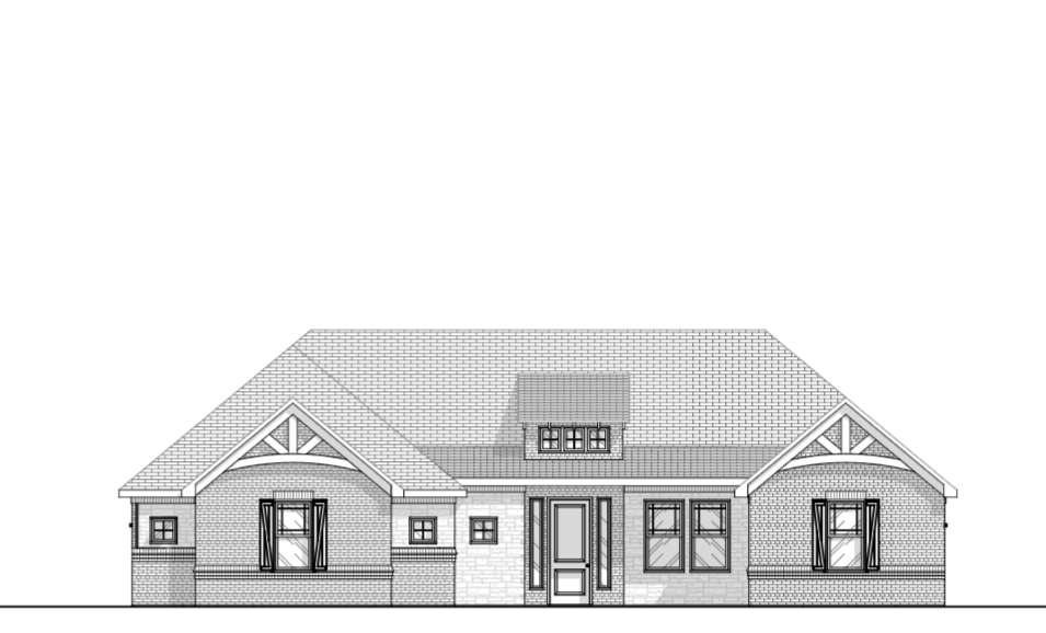 House Design Rear Elevation Brick Farmhouse