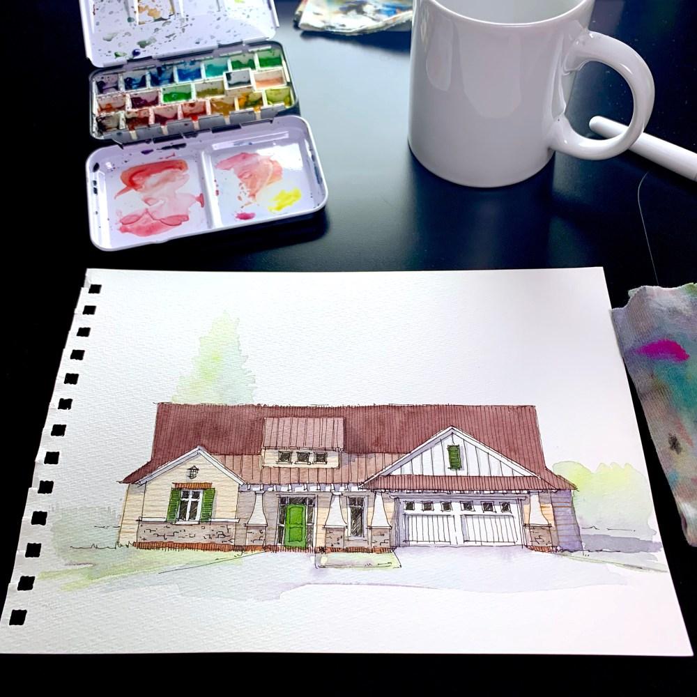 Farmhouse Sketch Commission