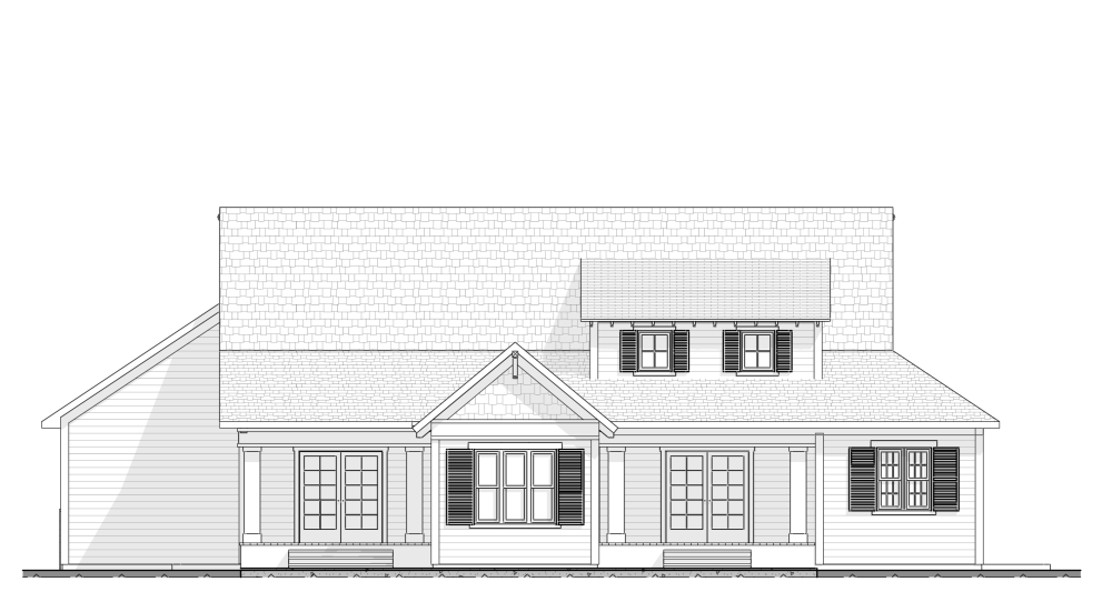 Craftsman Style - House Plan Elevation