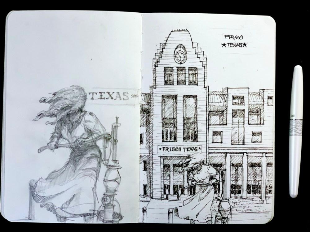 Sketchbook Sketching Frisco Texas