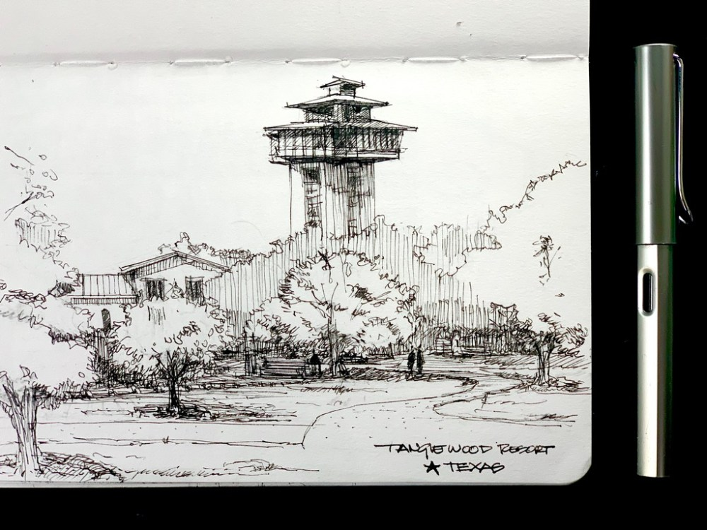 Tanglewood Resort Sketch