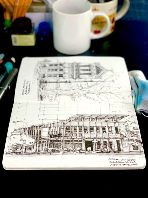 Coraline Restaurant Sketch