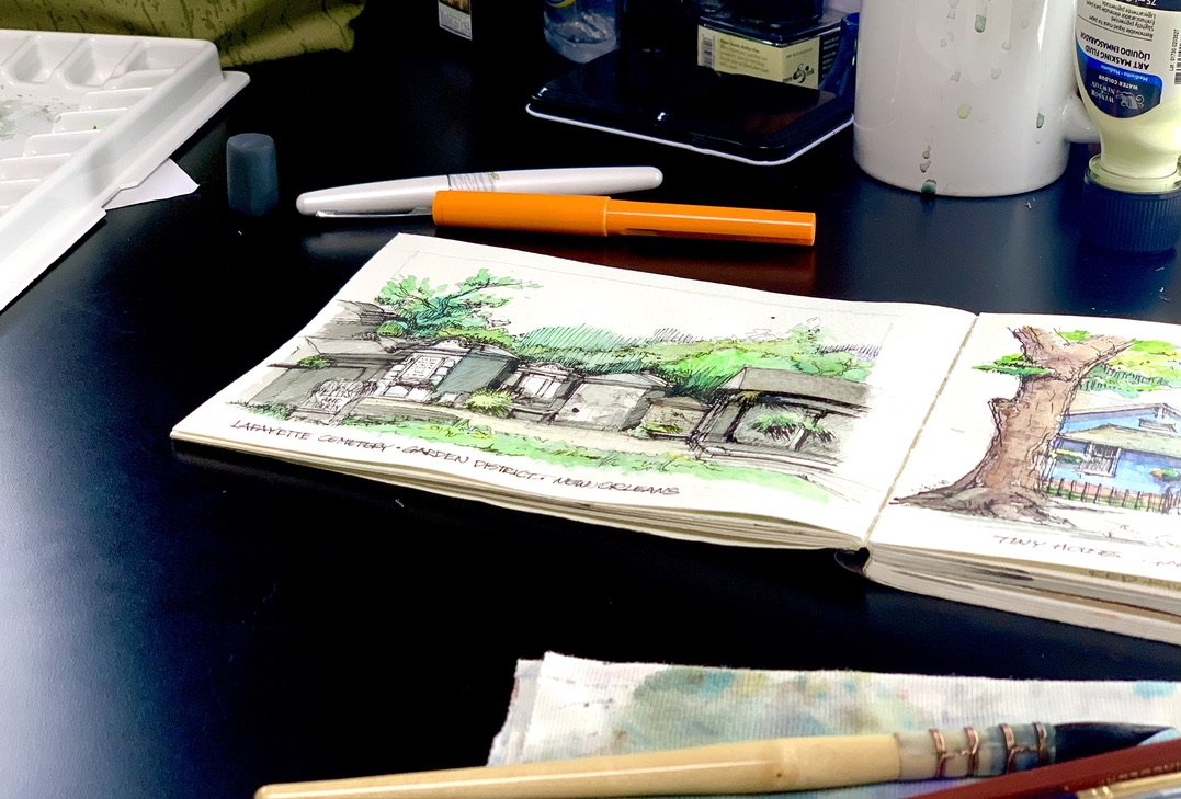 Lafayette Cemetery Sketch