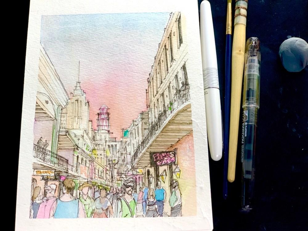 Bourbon Street Sketch