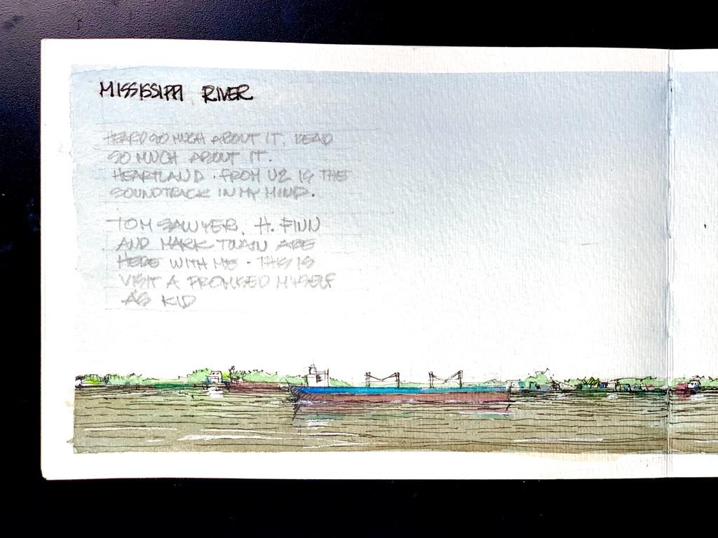 Mississippi River Sketch