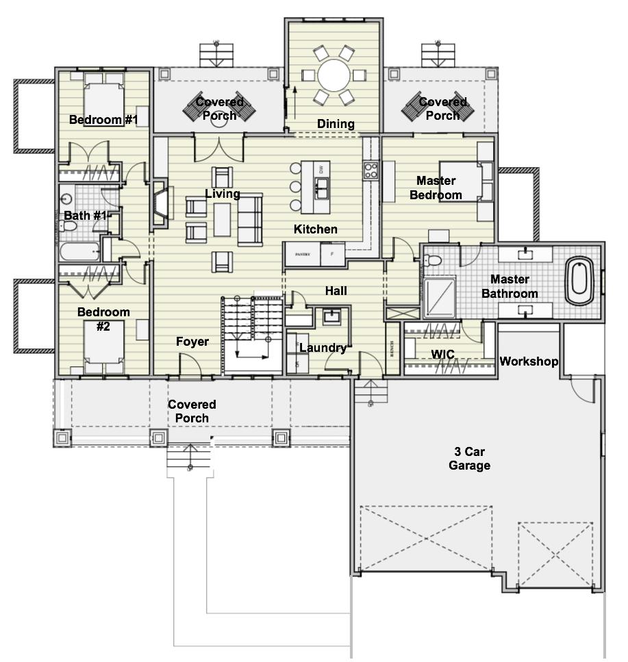 Farmhouse Floor Plan