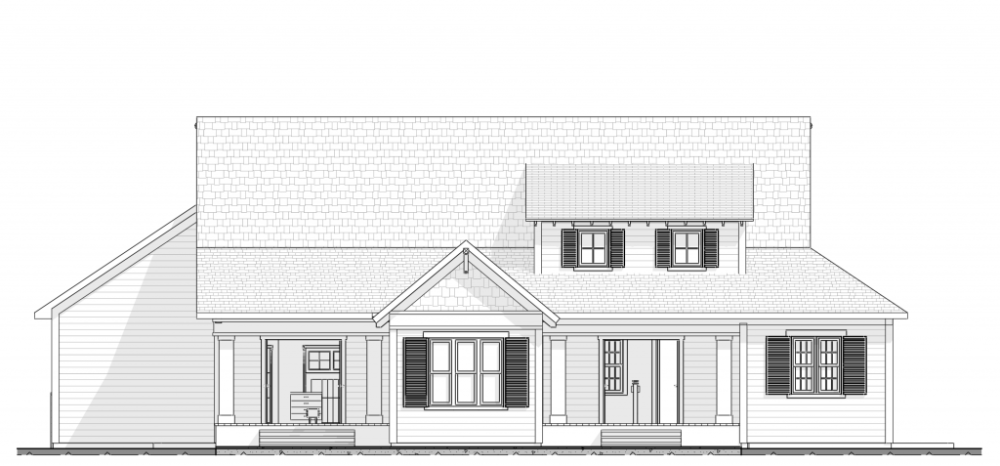 Craftsman Rear Elevation