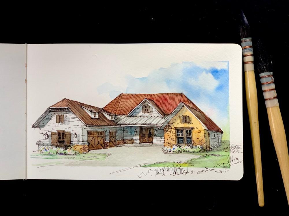 Moleskine Golf Club House Sketch