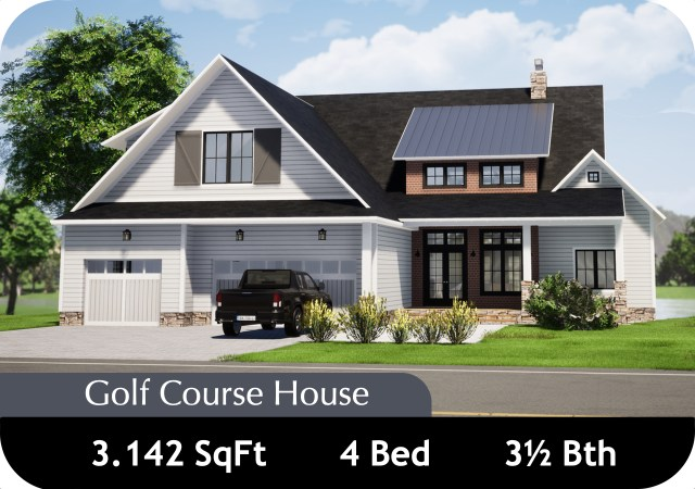 Golf Course Craftsman House