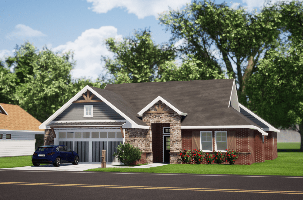 Craftsman House Render