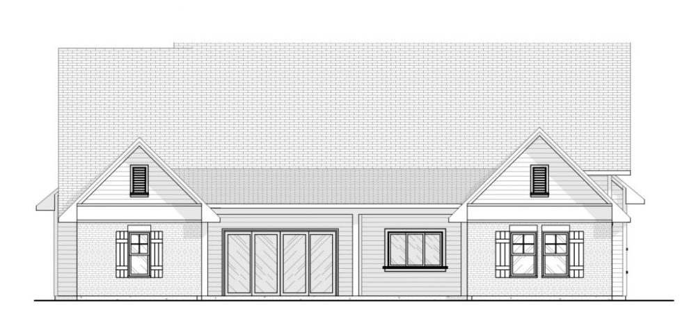 Farmhouse Rear Elevation