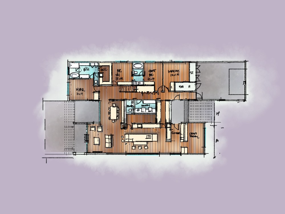 House Floor Conceptual Design