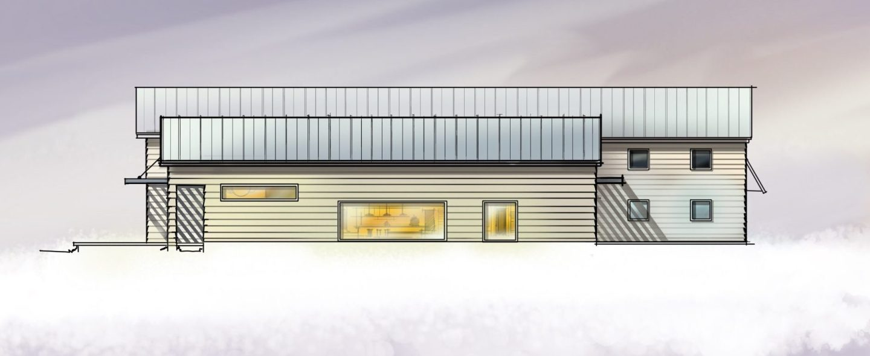 Modern Barn House - Digital Sketch