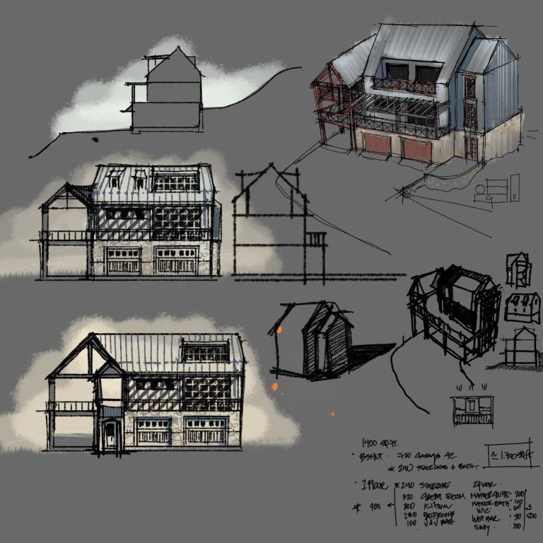 Lake House Sketches