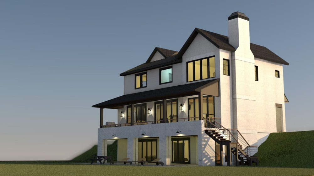 Modern Farmhouse at the Golf Court - House Design