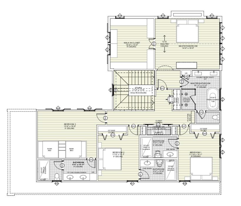 Upper Level Farmhouse Plan